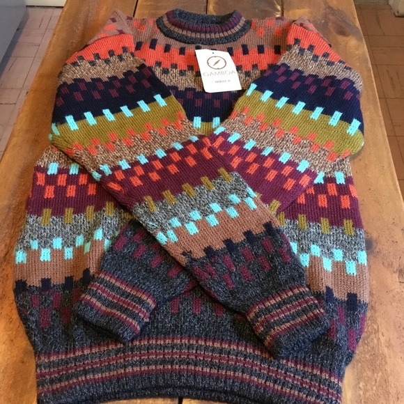 Gamboa Sweaters Mens Alpaca Wool Multi Color Sweater Poshmark